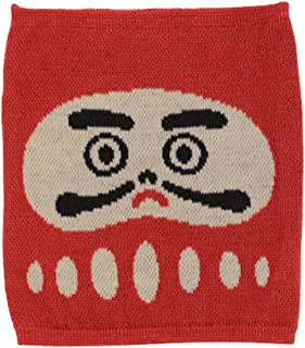 Kaya Japanese Haramaki Stomach/Body Warmer Belt Daruma Doll Design Kids Size Red