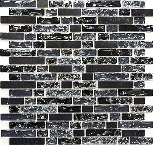 Effetto Mosaico Crush Nero Mix Line 15