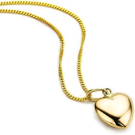 Orovi Collar Señora Corazón con cadena en Oro Amarillo Oro 9 Kt / 375 Cadena 45 Cm