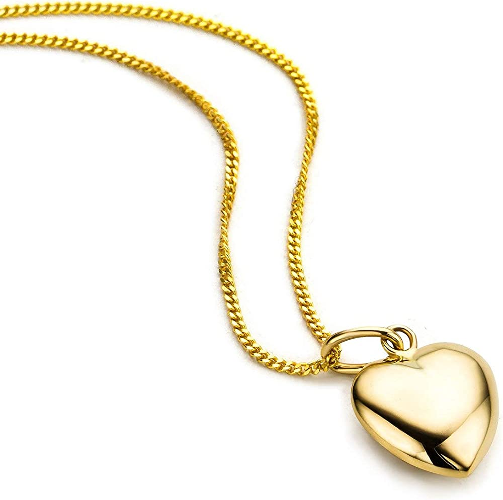 Orovi collana - pendente - ciondolo donna cuore con catena in oro giallo oro 9 kt / 375 (1.5 gr)OR8978N