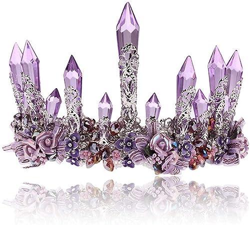 entrega rápida Corona Corona Corona tiara Corona de cristal artificial para las mujeres de la muchacha Boda Prom Desfiles Fiesta de la princesa Cumpleaños Adecuado para bodas ( Color   púrpura , Talla   (Diameter)15cm 5.9INCHES )  Las ventas en línea ahorran un 70%.