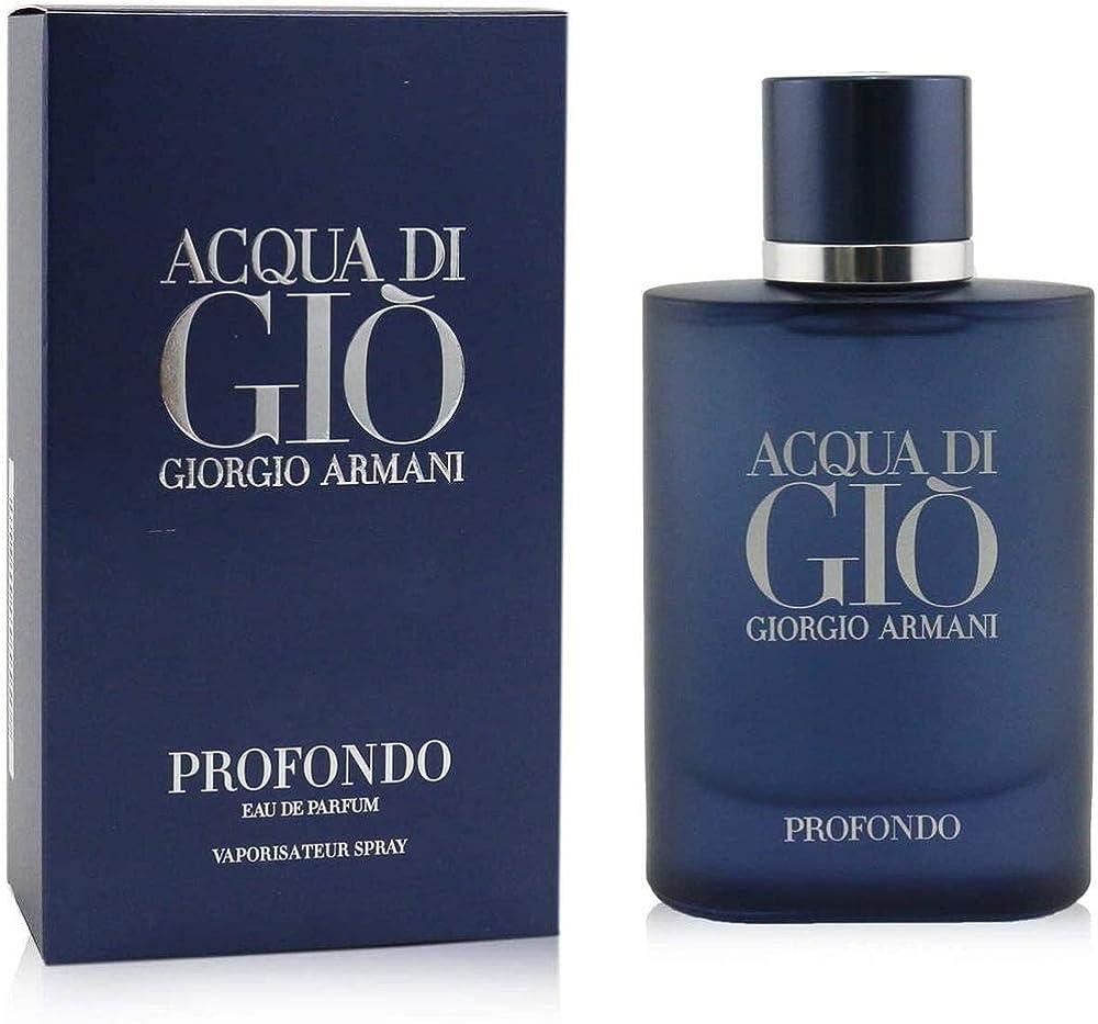 Armani, acqua di gio` profondo, eau de parfum per uomo - 75 ml 3614272865228