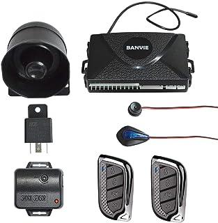 BANVIE 1 Way Car Security Alarm & Keyless Entry System