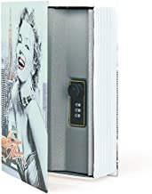 Diversion Book Safe Storage Box, Dictionary Secret Safe Can with Security Combination Lock/Key, Diversion Book Hidden Safe (Marilyn Monroe Style, M,Combination)