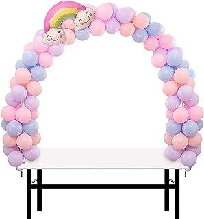 REAMOUS Kit de Arco de Globos Ideal para Bodas de cumpleaños y Fiestas de graduación para Diferentes tamaños de Mesa