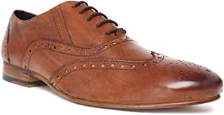 HATS OFF ACCESSORIES Genuine Leather Brown Wingtip Brogues Shoes