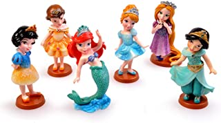Princess From Disney Cartoon Cake Topper Mini Figure