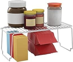 Metaltex Space Line - Estante apilable de cocina, 45x19x18 cm, blanco