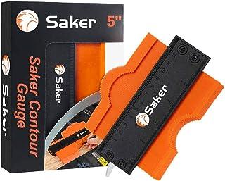 Saker Contour Gauge (5 Inch Lock) Profile Tool- Adjustable Lock-Precisely Copy Irregular Shape Duplicator -Irregular Welding Woodworking Tracing - Must Have Tool for DIY Handyman, Construction