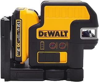 DEWALT DW0822LR 12V 2 Spot + Cross Line Laser, Red