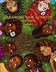 black girl Coloring and Activity Fun Book by J.D.Wright