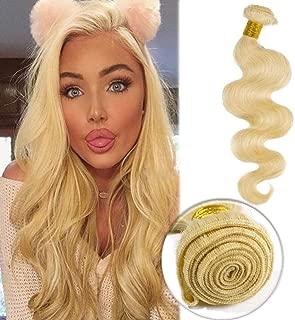 #613 Bleach Blonde Human Hair Bundles Body Wave Unprocessed Brazilian Virgin Human Hair Sew in Extensions for Women Wavy Curly Hair Weave 100g/Lot 10