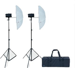 Dorr Ecoline dsu-150W Kit de Flash de Estudio con 2x Soportes Jefes//Octagon Softbox–Negro