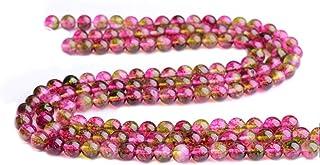 Binglinghua Naturel Pastèque Tourmaline rond Pierre précieuse Courroie Perles rondes Perles Intercalaires 8mm