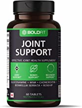 Boldfit Joint Support Supplement with Glucosamine MSM Chondroitin Boswellia Serrata and Rosehip Extract - Promotes Bones S...
