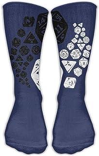 ダンジョンズアンドドラゴンズ陰陽ユニセックスパフォーマンスクルーソックスは手首を保護するためのサイクリング用湿気防止用弾性ソックス