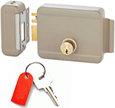 Gate Locks With Deadbolt And Deadlatch Locking (Electric Right Hand Inward) Has Yale Keyway, Power Supply, Exit And Chime Buttons, Buzzer +50FT. Electric Wiring