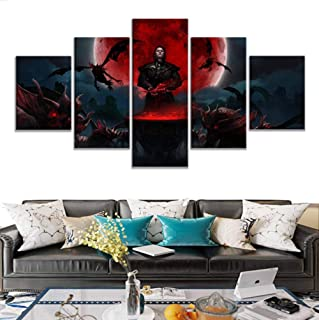 sasdasld Prints Modular Pictures 5 Pieces Gwent The Witcher Card Game Wall Artwork Cuadros Poster Home Family Decoration Paintings-40CMx60/80/100CM