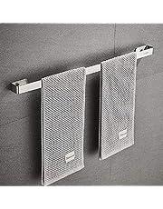 Handdoekenrek, Sikiwind Wandmontage Handdoekhouder Roestvrij Staal Handdoekrek 1-Arm Badkamer Handdoekstang 50cm (Zilver 19 Inch)