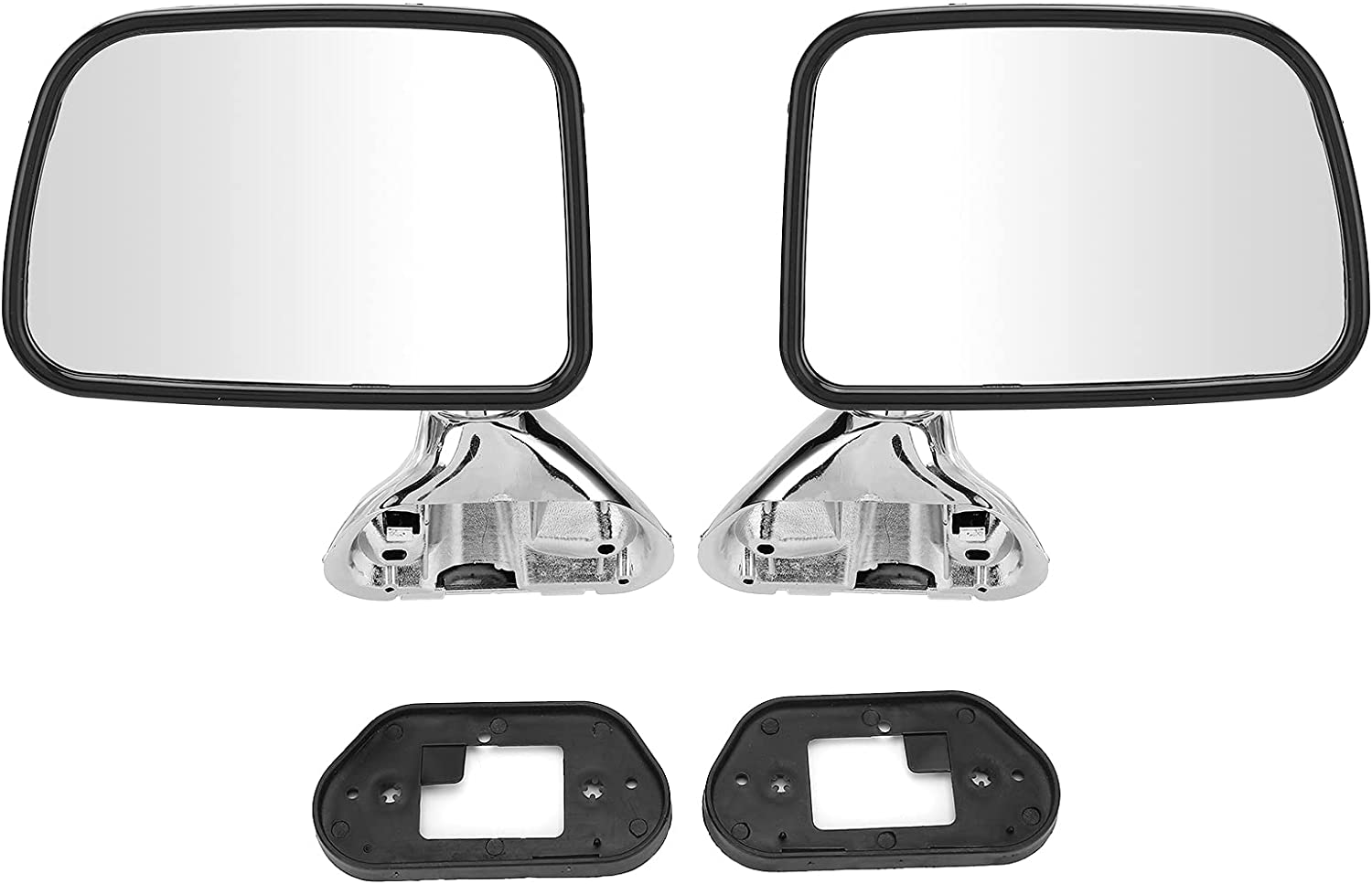 Popular product Max 84% OFF Pair Car Door Rearview Electroplated Dri Side Mirror