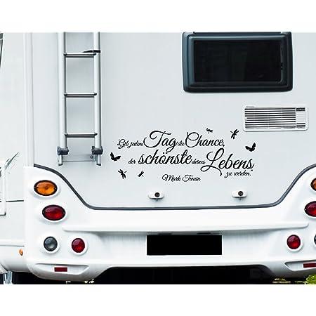 Wa319 Clickzilla Wohnmobil Aufkleber Wohnwagen Aufkleber Gib Jedem Tag Die Chance Der Schönste Deines Lebens Zu Werden Küche Haushalt