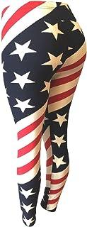 NY GOLDEN FASHION Women American Flag Leggings USA Flag Patriotic Soft Strenchy Leggings Pants
