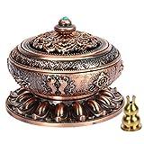 Kitchnexus - Quemador de incienso, aleación de cobre, loto tibetano, con soporte,...