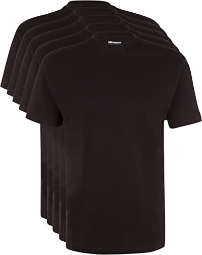 Ultrasport Maglia Sportiva per Il Tempo Libero Con Girocollo Da 5 Pezzi T-Shirt col Rond Homme