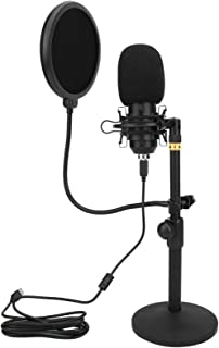 Microphone Set, Capacitance Microphone, Live Broadcast Desktop Noise Reduction Plug and Play USB for Speaking Recording