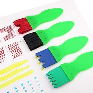 DSstyles School Things,Stationery School Supplies - Kids Paintbrushes & Sponge Painting Supplies Brushes 4pcs