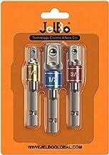 Juego de adaptadores de vaso de impacto, CR-V brocas de extensión de taladro, vástago hexagonal de 1/4 pulgadas, adaptador de llaves de vaso (3 unidades/juego: 1/4 pulgadas, 3/8 pulgadas, 1/2 pulgada)