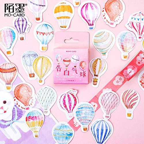 Preisvergleich Produktbild PMSMT 45 Stück / Packung Liebesgeschichte Ballon Tagebuch Aufkleber Kawaii DIY Scrapbooking Dekoration Briefpapier Aufkleber Zubehör
