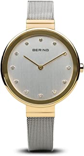 BERING Time 12034-010 Womens Classic Collection Watch with Mesh Band and Scratch Resistant Sapphire Crystal. Designed in Denmark.