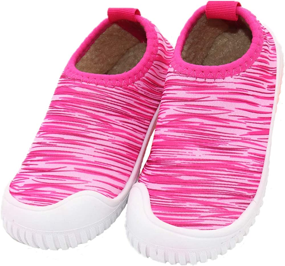 Elcssuy Kids Toddler Slippers Non-Slip Outsole Little Kids House Slippers Indoor Shoes for Boys Girls
