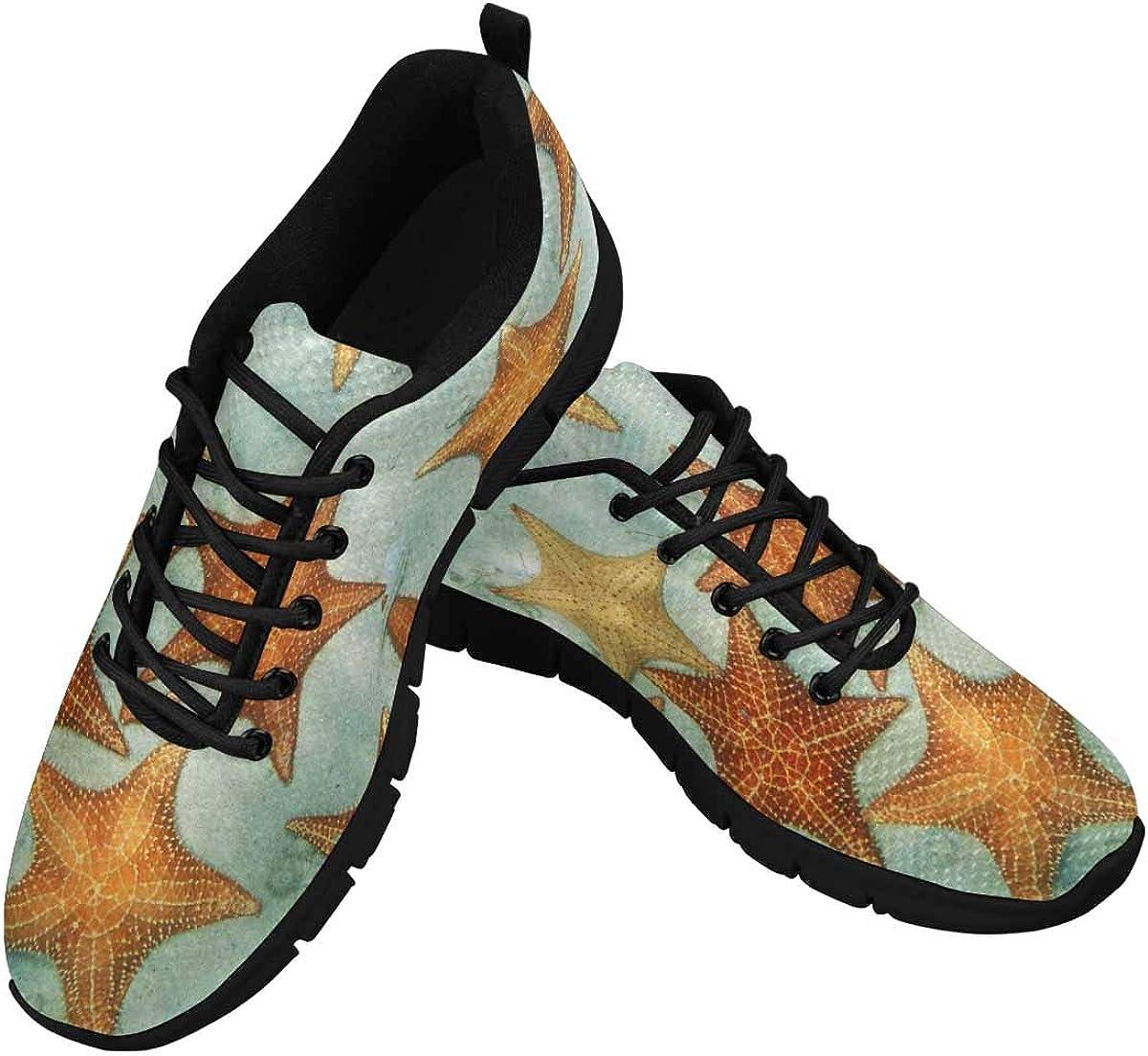 InterestPrint Cushion Starfish in The Caribbean Sea Women's Athletic Walking Shoes Comfort Mesh Non Slip