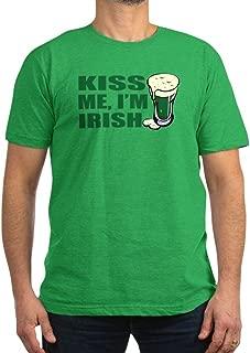 Kiss Me, I'm Irish St. Pats Men's Fitted T-Shirt (- Men's Fitted T-Shirt, Stylish Printed Vintage Fit T-Shirt
