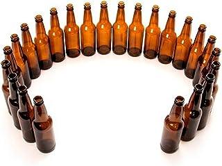 FastRack Amber Beer Bottles-12 oz Longneck-Case of 24, 12 oz