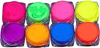 HJuyYuah Neon Pigment Nail Powder Dust Nail Glitter Gradient Glitter Iridescent Acrylic (Multicolor)