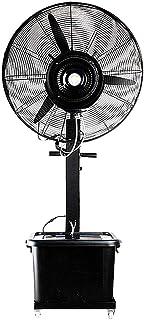 Ventiladores de pedestal Ventilador de pie de pedestal Ventilador de pie oscilante para interiores y exteriores para ventiladores de enfriamiento rápido y humidificación con rociador de pedestal en