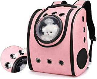 MAOSHE Dog Backpack Carrier Cat Backpack for Large Cats Pet Carrier Backpack for Medium Dogs Cat Carrier Backpacks Bubble for Hiking Airline Approved Pet Backpack Carrier
