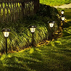 professional SOLPEX Solar Path Light Outdoor, 6 LED Solar Pathway Light, Waterproof Solar Yard Light …