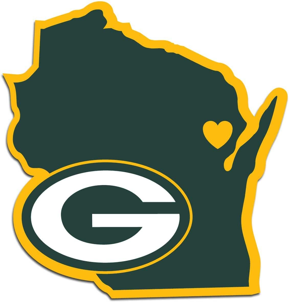 NFL Siskiyou Sports Fan Surprise price Shop Green Packers Home State Decal Bay National uniform free shipping