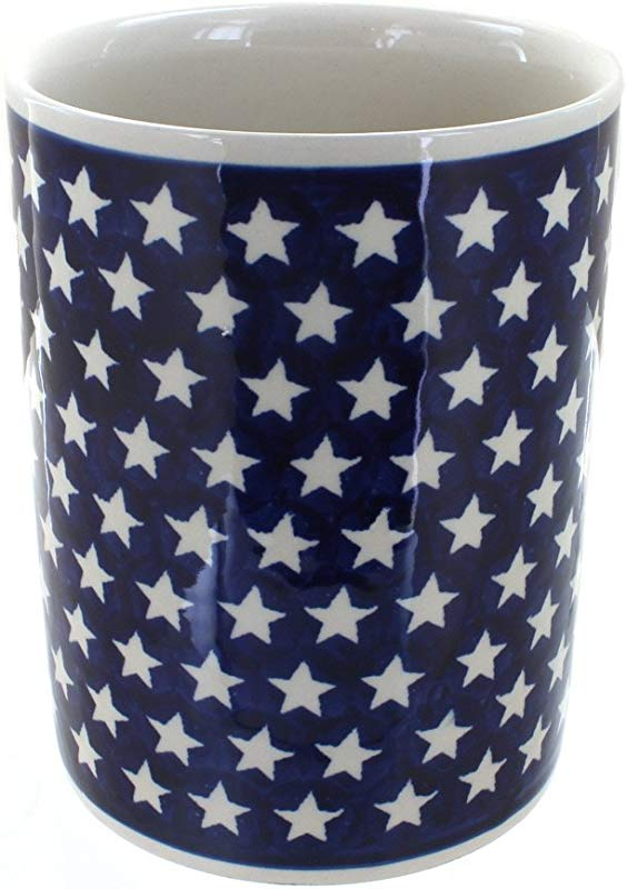 Polish Pottery Stars Utensil Jar