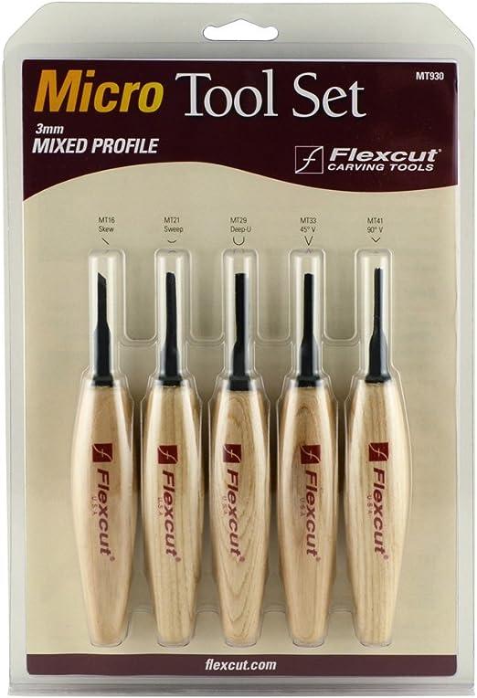 Four micro skews Flexcut Skew Micro Tool Set # FLEXMT200