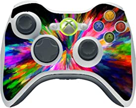 Rainbow Abstract Color Colors Splash Vinyl Decal Sticker Skin by Moonlight4225 for Xbox 360 Wireless Controller