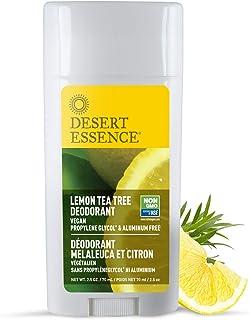 Desert Essence Lemon Tea Tree Deodorant - 2.5 Ounce - Pack of 2 - Long Lasting Protection - Propylene Glycol & Aluminum Fr...