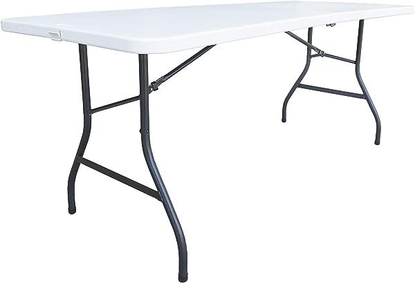 Alera ALEFR72H Fold In Half Resin Folding Table 71w X 30d X 29h White