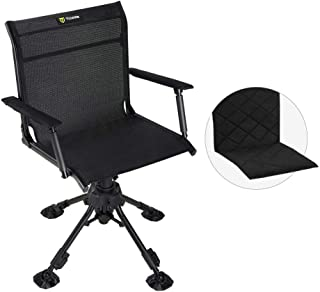 TIDEWE Hunting Chair with Seat Cover, 360 Degree Silent...