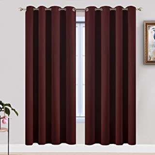 Yakamok Treatment Blackout Thermal Insulated Room Darkening Solid Grommet Curtains/Drapes for Bedroom,Bonus 2 Tie Backs In...