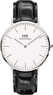 Daniel Wellington Classic Reading Watch, Italian Black Leather Band